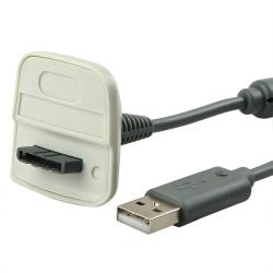 INSTEN Wireless Controller Charging Cable for Microsoft xBox 360