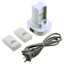 BasAcc Dual Battery Charging Station/ Batteries for Microsoft xBox 360