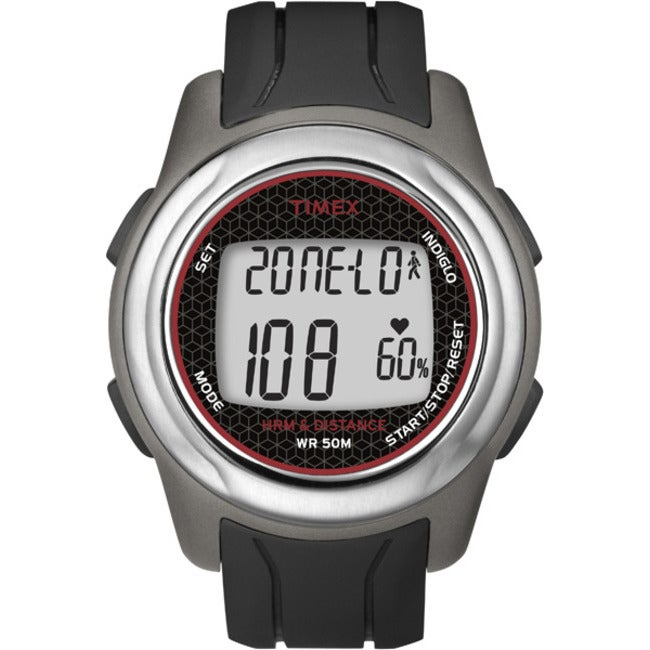 Timex T5K560F5 Men's Health Touch Plus Heart Rate Monitor Black/ Grey/ Red Watch
