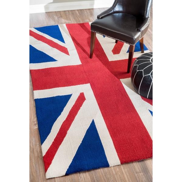 nuLOOM Handmade United Kingdom Wool Rug (5' x 8')