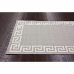 nuLOOM Handmade Greek Key Wool Rug (5' x 8') - Thumbnail 1