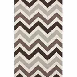 nuLOOM Handmade Chevron Abstract Wool Rug (5' x 8')