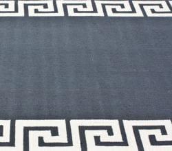Thumbnail 3, nuLOOM Handmade Greek Key Wool Rug (5' x 8'). Changes active main hero.