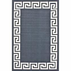 nuLOOM Handmade Greek Key Wool Rug (5' x 8') - Thumbnail 0