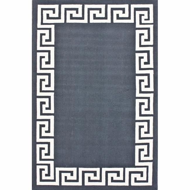 nuLOOM Handmade Greek Key Wool Rug (7'6 x 9'6)