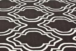 nuLOOM Handmade Modern Trellis Brown Wool Rug (5' x 8') - Thumbnail 2