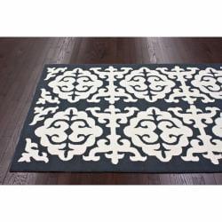 nuLOOM Handmade Marrakesh Grey Wool Rug (7'6 x 9'6) - Thumbnail 1