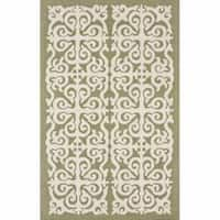 nuLOOM Handmade Marrakesh Fez Green Wool Rug (5' x 8') - 5' x 8'