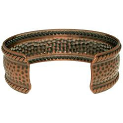 Carolina Glamour Collection Copper-plated Textured Rope Cuff Bracelet - Thumbnail 1