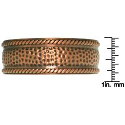 Carolina Glamour Collection Copper-plated Textured Rope Cuff Bracelet - Thumbnail 2