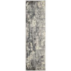 Nourison Utopia Grey Abstract Rug (2'3 x 8')