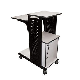 H.Wilson Mobile Presentation Station with Locking Cabniet