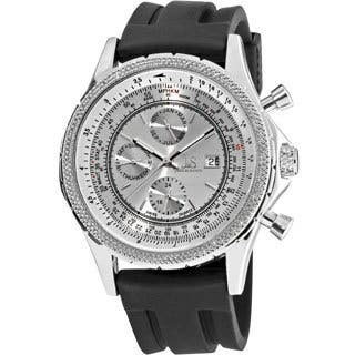 Joshua & Sons Men's Multifunction Rubber-Strap Stainless Steel Watch|https://ak1.ostkcdn.com/images/products/6629099/P14194773.jpg?impolicy=medium