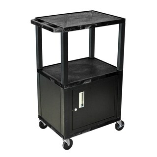 H.Wilson 42-inch Black Tuffy Multi-Purpose Utility Cart with Cabinet