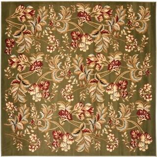 Safavieh Lyndhurst Traditional Floral Sage Rug (7' Square)