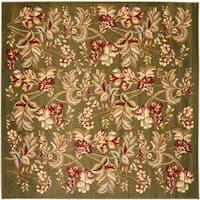 Safavieh Lyndhurst Traditional Floral Sage Rug - 7' x 7' Square