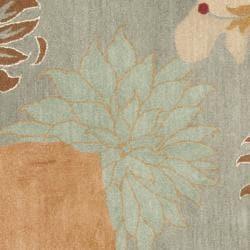 Safavieh Handmade Chatham Garden Blue New Zealand Wool Rug (7' Square)