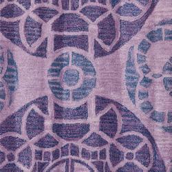 Safavieh Handmade Treasures Purple New Zealand Wool Rug (7' Square) - Thumbnail 2