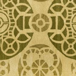 Safavieh Handmade Chatham Treasures Honey New Zealand Wool Rug (7' Square) - Thumbnail 2