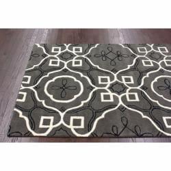 nuLOOM Handmade Moroccan Modern Trellis Wool Rug (7'6 x 9'6) - Thumbnail 1