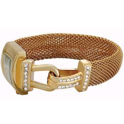 Akribos XXIV Women's Mesh Wraparound Quartz Gold-Tone Watch - Thumbnail 1