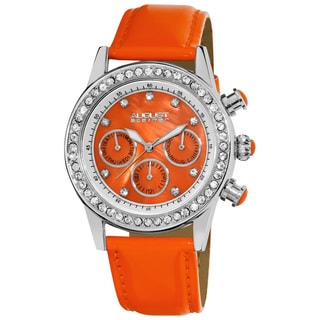 Orange August Steiner Women's Multifunction Dazzling Strap Watch