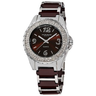 Akribos XXIV Women's Quartz Mineral-Crystal Ceramic White Bracelet Watch (4 options available)