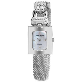 Akribos XXIV Women's Silvertone Mesh Wraparound Quartz Watch