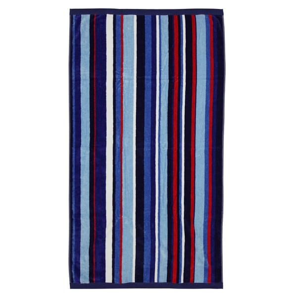 Luxury Striped Cotton Velour Beach Towel