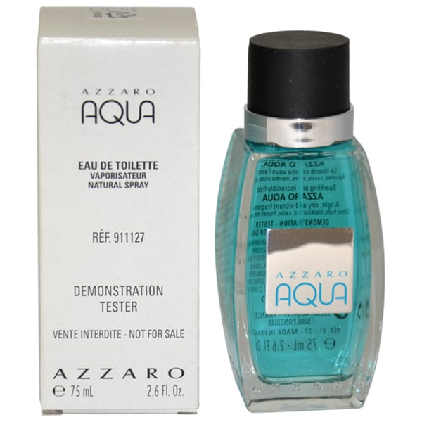 Azzaro Aqua Men's 2.6-ounce Eau de Toilette Spray (Tester)