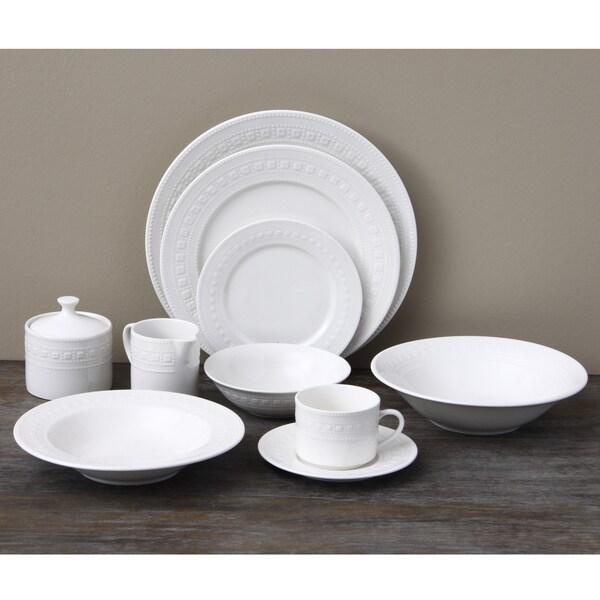 Oneida Dotted Square 53-piece Dinnerware Set