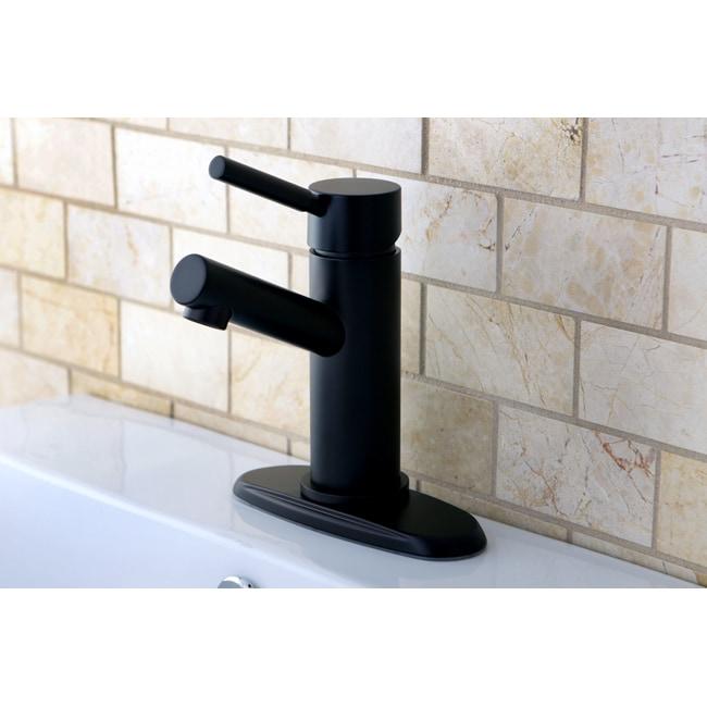 Kingston Brass Straight Oil Rubbed Bronze Bathroom Faucet...