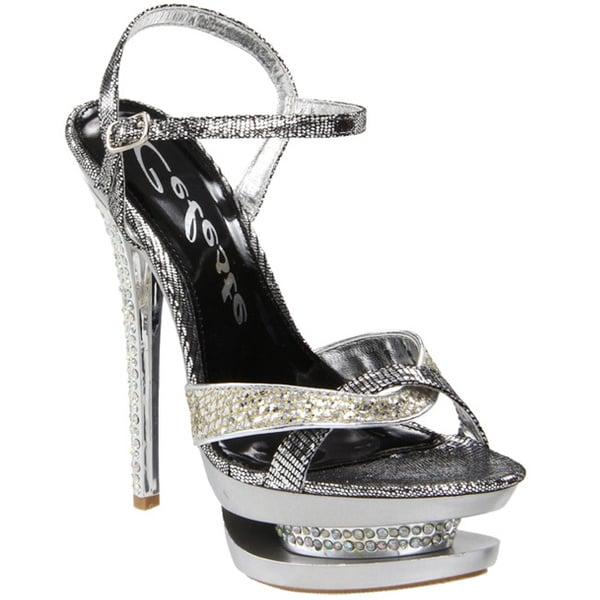 Celeste Women's 'Rosie-02' Silver Stiletto Sandals