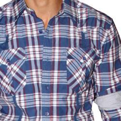 191 Unlimited Men's Blue Plaid Shirt