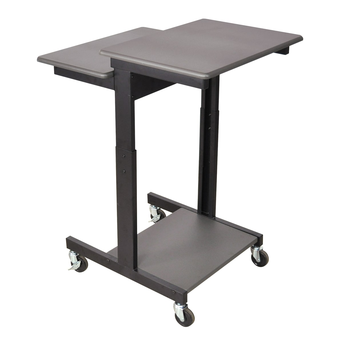 Bon Wheeled Computer Table Workstation Desk Steel Lower Shelf Adjustable Height