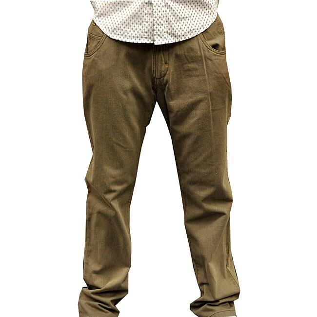 Something Strong Men's Green Straight Leg Pants