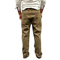 Something Strong Men's Green Straight Leg Pants - Thumbnail 1