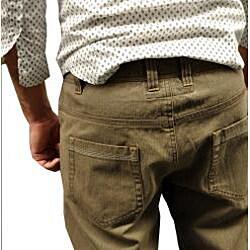 Something Strong Men's Green Straight Leg Pants - Thumbnail 2