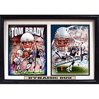 New England Patriots Tom Brady and Rob Gronkowski 'Dynamic Duo' Double Photo Frame