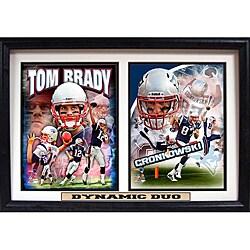 New England Patriots Tom Brady and Rob Gronkowski 'Dynamic Duo' Double Photo Frame
