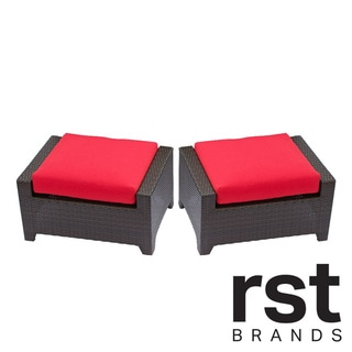 RST Brands Cantina 2-piece Patio Ottoman Set