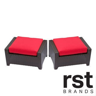 RST Brands Cantina 2-piece Patio Ottoman Set