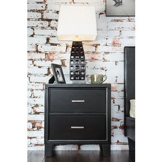 Furniture of America Two-drawer Espresso Wood Night Stand