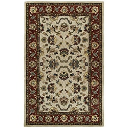 Beige Persian Hand-tufted Wool Rug - 5' x 8' - Thumbnail 0