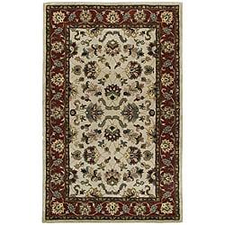 Beige Persian Hand-tufted Wool Rug (5' x 8') - Thumbnail 0