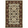 Beige Persian Hand-tufted Wool Rug - 5' x 8'