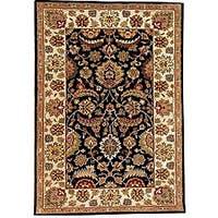 Black Ivory Hand-tufted Wool Rug (5' x 8') - 5' x 8'