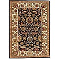Black Ivory Hand-tufted Wool Rug (5' x 8') - 5' x 8'