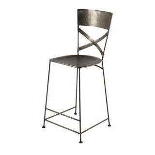 X-Back Nickel Counter Stool