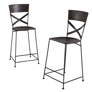 X-Back Zinc Counter Stool (Set of 2)
